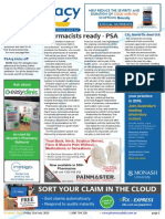 Pharmacy Daily for Fri 31 Jul 2015 - Pharmacists ready - PSA, CSU pharmacy course consolidation, GMiA expands to GBMA, Events Calendar and much more