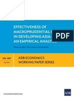 Effectiveness of Macroprudential Policies in Developing Asia