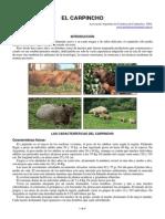 Carpincho asociacion con otras especies en produccion