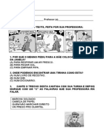 Atividades Língua Portuguesa 1º ANo