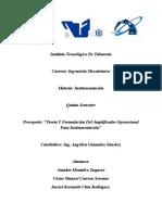Prereporte Teoría & Formulación Del Amplificador Operacional Para Instrumentación