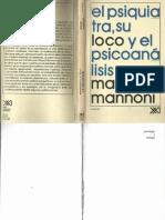 El Psiquiatra, Su Loco y El Psicoanálisis [Maud Mannoni]