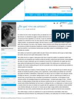 ¿de Qué Vive Un Artista_ _ La Silla Vacía