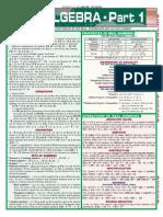 QuickStudy Algebra Vol 1