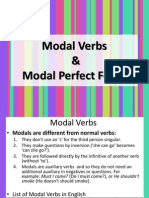 Modals and Perfect Modals in Past
