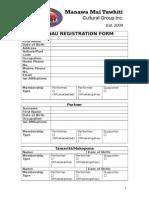mmt whaanau registration form