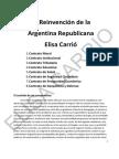 La plataforma de Elisa Carrió y sus ocho contratos.