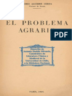 Pedro Aguirre Cerda El Problema Agrario