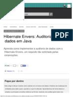 Hibernate Envers_ Auditoria de Dados Em Java