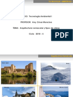 Tipos de Clima y Arquitectura