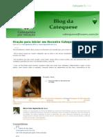 Oração para iniciar um Encontro Catequético - Blog da Catequese.pdf