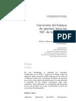 Conversion Del Balance de Apertura Segun Las Niif