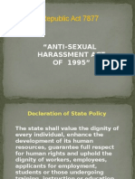 Powerpoint RA 7877 Anti Sexual Harassment Act of 1995 Final