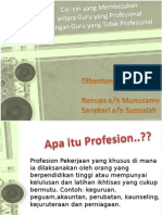 Guru Profesionalisme vs Guru Tidak Profesionalisme