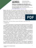 Estudo Experimental e Numerico Da Influencia de Cilindros Porosos