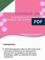 Seminar On education and training