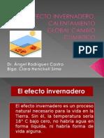 4.-Efecto Invernadero, Calentamiento Global,Cambio Climatico