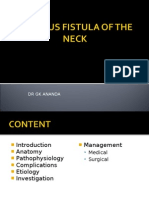 Chylous Fistula of the Neck
