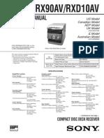 repair manual sony hcd rxd10av cd deck receiver