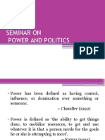 Power and Politics Ppt