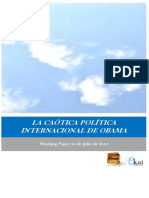 LA CAOTICA POLITICA INTERNACIONAL DE OBAMA