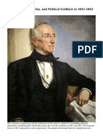 John Tyler, Henry Clay, and Political Gridlock in 1841-1842