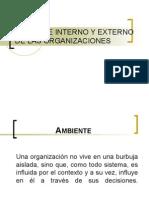 Ambiente Interno y Externo de Las Organizaciones