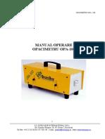 Manual Opacimetru Opa-100