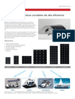 TECHNO SUN PV FLEX Paneles Solares Curvables 18-25-50!60!100 120W Ficha ES