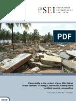 Tsunami Vulnerability