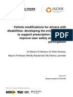 071 Vehicle Modifications for Drivers With Disabilities