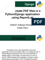 How to Create PDF Files in a PythonDjango Application Using ReportLab
