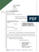 Daisy Mountain Fire District v. Microsoft Corporation - Document No. 2