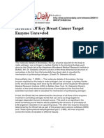 01.07.2009 Structure of Key Breast Cancer Target Enzyme Unraveled