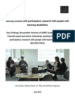 Moving Forward With Participatory Research With People With Learning Disabilities