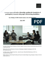 Pushing the Boundaries of Participatory Research With People With Learning Disabilities_project Summary