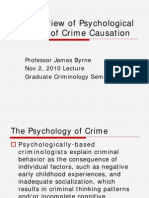 An Overview of Psychological Theories of Crime Causation