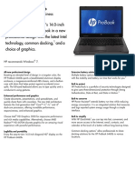 HP ProBook 6460b Notebook PC Datasheet