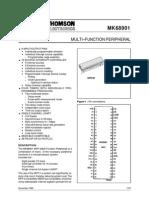 563 Multi–Function Peripheral St Mk68901