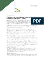 ETV Motors VC Data