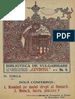 Două conferinţe - N. Iorga