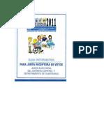 Guía Informativa para Junta Receptora de Votos 2011- Trifoliar, TSE de Guatemala