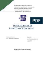 Informe Final Pasantía Ocupacional
