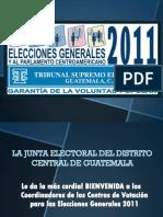 Junta Electoral Del Distrito Central, Juramentación - TSE Guatemala, 14 de Julio 2011 . Presentación PP