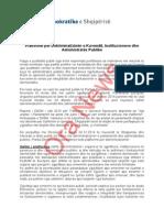 Platforma e PD per dekriminalizimin