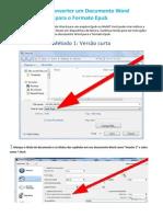 Como Converter Um Documento Word Para o Formato Epub