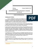 Propiedades de Las Sustancias y Uniones Químicas