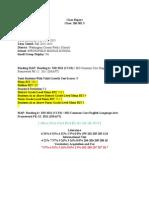 class report artifact 1 2