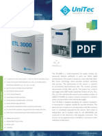 air quality monitor for measuring airborne pollutants in parts per billion Unitec ETL 3000