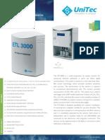 air quality monitor for measuring airborne pollutants in parts per billion Unitec ETL 3000